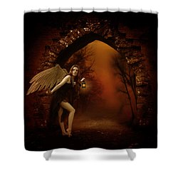 Shower Curtain featuring the photograph Lost Fairy by Ester  Rogers