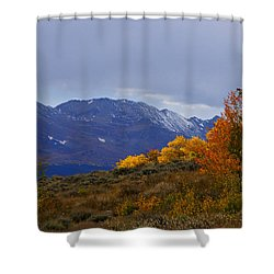 Lost In Autumn Shower Curtain by Jeremy Rhoades