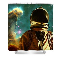 Lost In The Star Maker Shower Curtain by Matthew Lacey