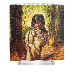 Lost In The Woods Shower Curtain by Karen Kennedy Chatham