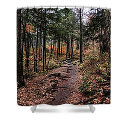 Shower Curtain featuring the photograph Lost In Thought On The Blue Ridge Parkway Trail by Debbie Green