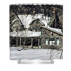 Lost In Time Shower Curtain by Susan Capuano