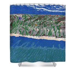 Shower Curtain featuring the painting Lost Island by Kim Pate