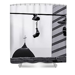 Lost Soles - Urban Metaphors Shower Curtain