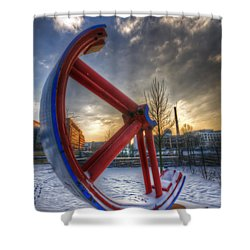 Lost Wheel Shower Curtain by Nathan Wright