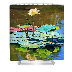 Lotus Above The Lily Pads Shower Curtain