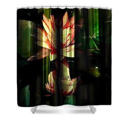 Lotus Bamboo  Shower Curtain