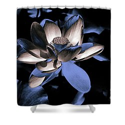 Lotus By Night Shower Curtain
