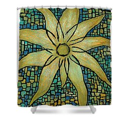 Lotus Shower Curtain by Carla Sa Fernandes