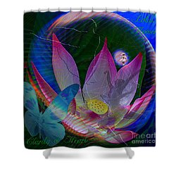 Lotus Flower Energy Shower Curtain
