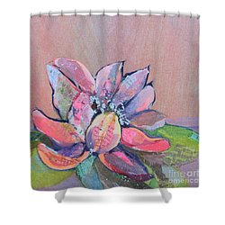 Lotus Iv Shower Curtain by Shadia Derbyshire