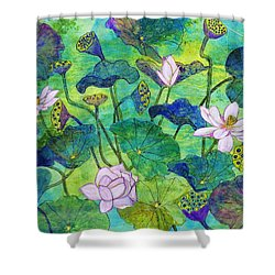Lotus  Shower Curtain by Janet Immordino