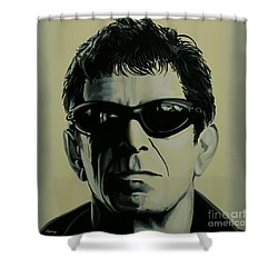 Lou Reed Painting Shower Curtain