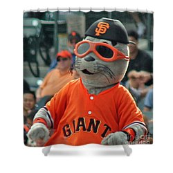 Lou Seal San Francisco Giants Mascot Shower Curtain