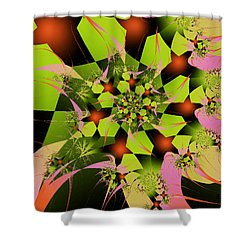 Shower Curtain featuring the digital art Loud Bouquet by Elizabeth McTaggart