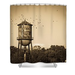 Loudon Water Tower Shower Curtain by Melinda Fawver