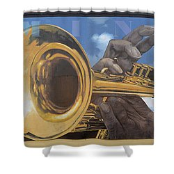 Louis Armstrong Shower Curtain by Bob Christopher