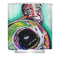 Louis Armstrong Shower Curtain by Chrisann Ellis