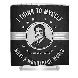 Louis Armstrong - Dark Shower Curtain