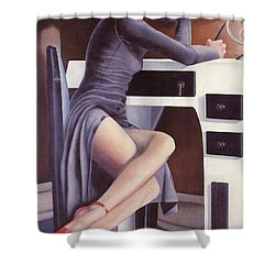 Louise Shower Curtain by Mary Ann  Leitch