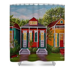 Louisiana Loves Shotguns Shower Curtain