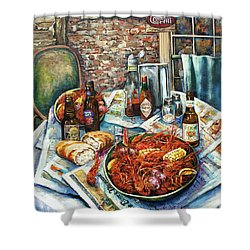 Louisiana Saturday Night Shower Curtain