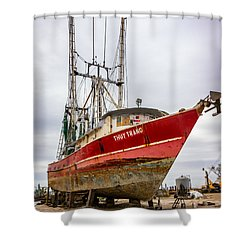 Louisiana Shrimp Boat 2 Shower Curtain by Steve Harrington
