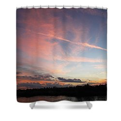 Shower Curtain featuring the photograph Louisiana Sunset In Lacombe by Luana K Perez