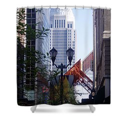 Louisville Buildings 2 Shower Curtain by Jennifer E Doll