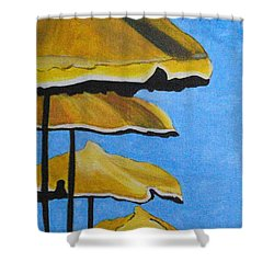 Lounging Under The Umbrellas On A Bright Sunny Day Shower Curtain