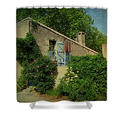 Lourmarin Cottage Shower Curtain by Carla Parris