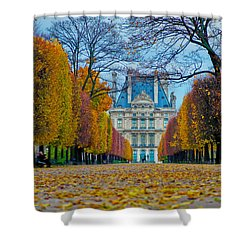 Louvre In Fall Shower Curtain