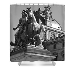 Louvre Man On Horse Shower Curtain