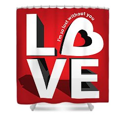 Love 3  Shower Curtain by Mark Ashkenazi