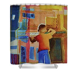 Love A Piano 1 Shower Curtain by Marilyn Jacobson