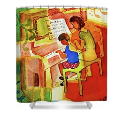 Love A Piano 2 Shower Curtain by Marilyn Jacobson