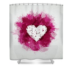 Love Shower Curtain by Aged Pixel