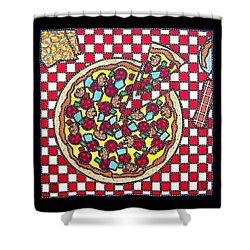 Love At First Bite Shower Curtain by Jim Harris