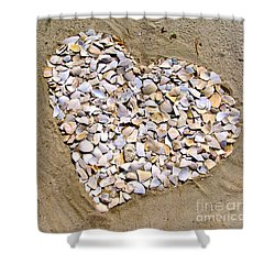Love At The Jersey Shore Shower Curtain by Colleen Kammerer