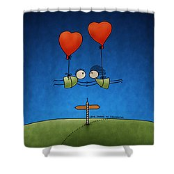 Love Beyond Boundaries Shower Curtain