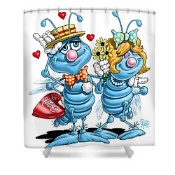 Love Bugs Shower Curtain