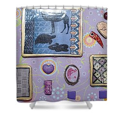 Love Collage Shower Curtain