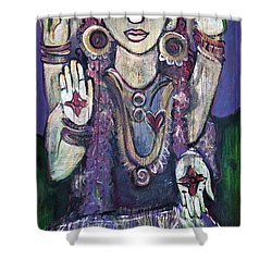 Love For Parvati Shower Curtain by Laurie Maves ART
