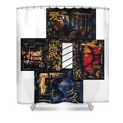 Shower Curtain featuring the painting Love Four Seasons by Fei A