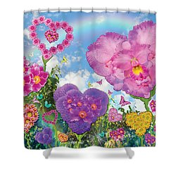 Love Garden Shower Curtain by Alixandra Mullins