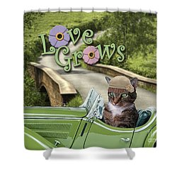 Shower Curtain featuring the digital art Love Grows by Kathy Tarochione