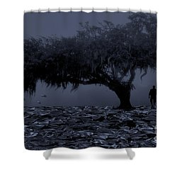 Love In Moon Light Shower Curtain