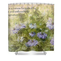 Love Is A Canvas Shower Curtain