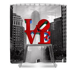 Love Is Always Black And White Square Shower Curtain