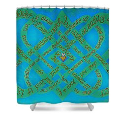 Love Is Blue Shower Curtain by Hidden  Mountain